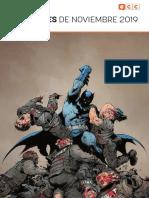 Novedades cómics ECC Ediciones noviembre 2019