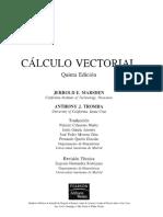 Calculo Vectorial - 5a Edición - Marsden & Tromba