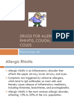 Drugs for Allergic Rhinitis Cough and Cold