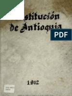 Constitución Antioquia 1812