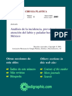 analisis de la prevalencia de labio y paladar hendido en Mexico