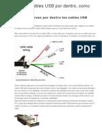Ficha y Cables USB Por Dentro