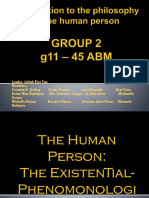 Group 2 Introduction to the Philosophy of the Human