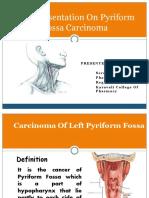 Case Presentation of Cancer of Pyriform Fossa