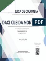 Certificate (1) Daxi