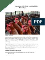 Analisa Usaha Ayam Petelur 2018