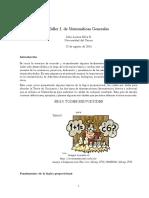 TALLER No 1 Matemáticas 1 (2014)