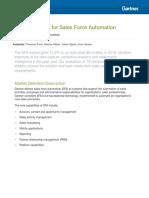 Magic Quadrant for Sales Force Automation
