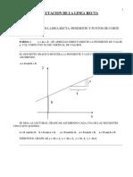 Ecuacion de La Linea Recta