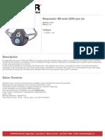 Ficha Producto Respirador 3m Serie 3200 Una via 102846