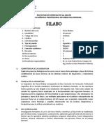 Silabo Fisica Medica 2019-II