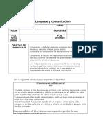 Prueba de Lenguaje y Comunicacion Tercero Basico Unidad 3