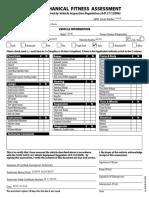 AMVIC Mechanical Fitness Assessment Form Revised 09-15-2014 No Logo