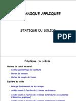 1- Principe Fondamental de La Statique
