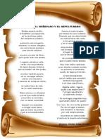 Poema El Huérfano y El Sepulturero