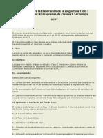 Normativa para efectuar una trabajo de tesis final