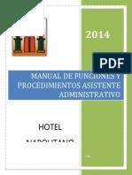 Manual de Funciones Asistente Administrativo