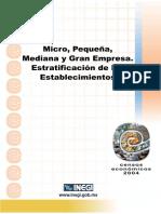 INEGI - 2004. Estratificación de Los Establecimientos