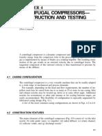 Centrifugal compressor construction and testing