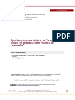 """Apuntes para una lectura de Carlos Matus desde los debates sobre """"estilos de desarrollo"""""""