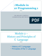Module 2 History and Principles of C Programming