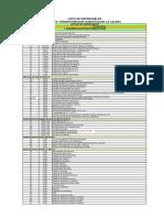 Listado de Entregables Ingenieria