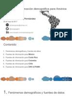 Fuentes de Información Demográfica para LATAM