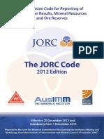 1 JORC Code 2012