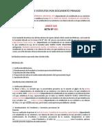 Reforma de Estatutos Por Documento Privado