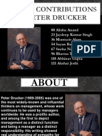 6 Major Contributions of Peter Drucker