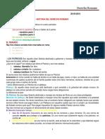 Teoricas Derecho Romano 31-03-2019