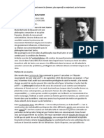Simone de Beauvoir Résumé
