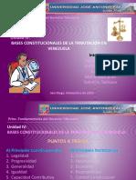 UNIDAD IV Bases Constitucionales de La Tributacion en Venezuela