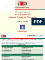 Presentation on CPD Budget Dialogue FY 2019 20
