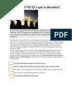 Qué Es La COP 25 y Qué Se Discutirá