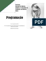 Programação do IX encontro de pós graduação em História Econômica