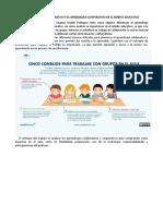 El Aprendizaje Colaborativo y El Aprendizaje Cooperativo en El Ámbito Educativo