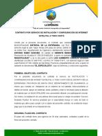 contrato de e¿servicios de internet