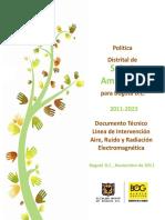 Aire, Ruido y Radiacion Electromagnetica Bogota