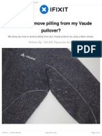 How Do I Remove Pilling From My Vaude Pullover