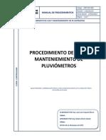 PIE MIP 003 REV.1 Procedimiento Manejo de Pluviómetro