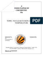 Nuclear Fussion at Low Temp