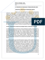 PRINCIPIOS DE TECNOLOGIAS LIMPIAS