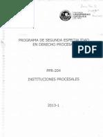 Programa de Segunda Especialidad en Derecho Procesalmmmmm