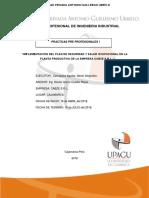 Plan de Practicas Pre Profecionales Ingenieria Industrial en La Empresa Cabze s.r.l. Cajamarcca