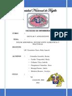 Informe de Dolor Abdminal,IAY Frcaturas Escolar y Adolescente 4U