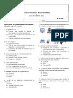 Examen Diagnostico Primero y Segundo