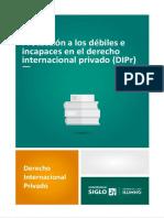 debiles e incapaces en el derecho internacional privado