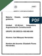 Actividad Integradora, Argumentacion Constitucional.
