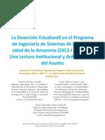 La Deserción Estudiantil en el Programa de Ingeniería de Sistemas de la Universidad de la Amazonia